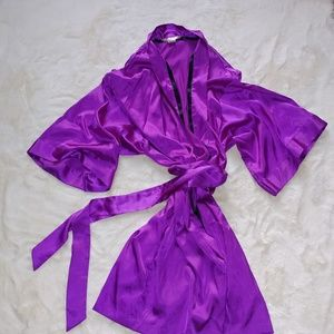 Victoria's Secret Purple Satin Robe